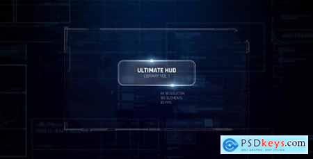 Videohive Ultimate HUD Library vol. 1- Dron Ui Future Space Package- Cyber Space Screens- Circles- Line- Grid 19208879