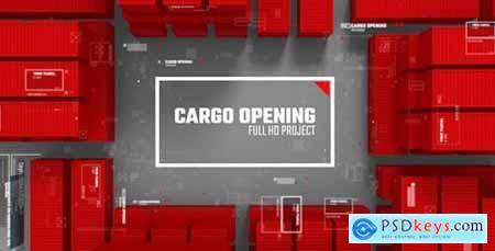 Videohive Cargo Opening- Transportation of Parcels- Post and Сontainer- Corporate Logo 21292992