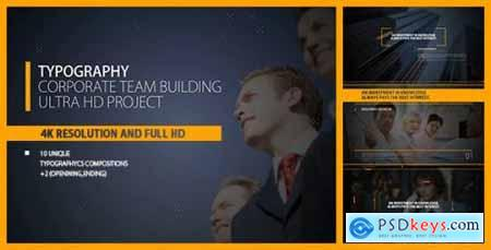 Videohive Typography Intro- Corp Team Building- Business- Political Meeting- Economic- Summit- Event Promo- TV 16131553