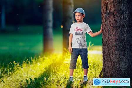 Boy T-Shirt Mock-Up Set 2 4345778