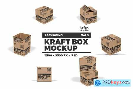 Kraft Box Mockup - Packaging Vol 3 4377843