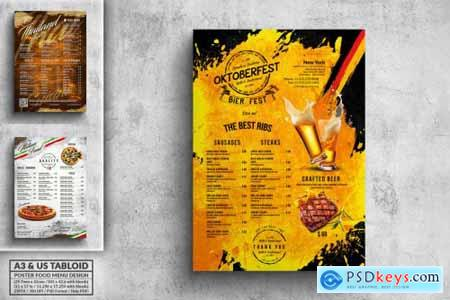 Different Countries Menu Bundle - A3 & US Tabloid