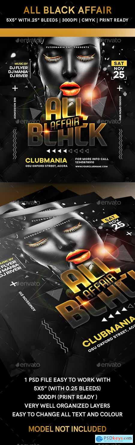 All Black Affair Flyer 24626496