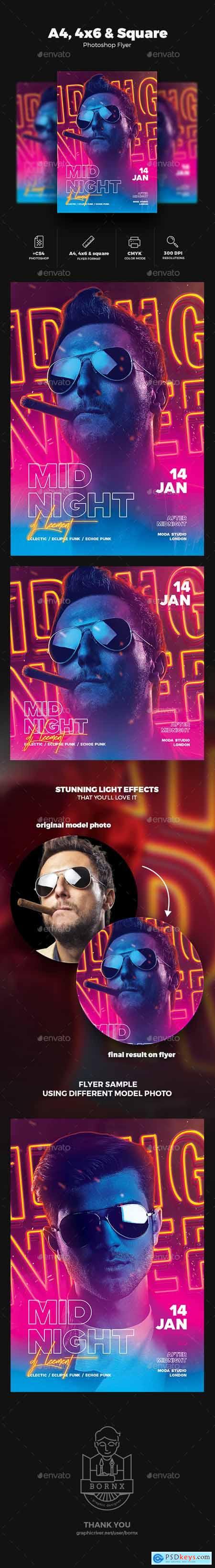 DJ Flyer Midnight Party 23102723