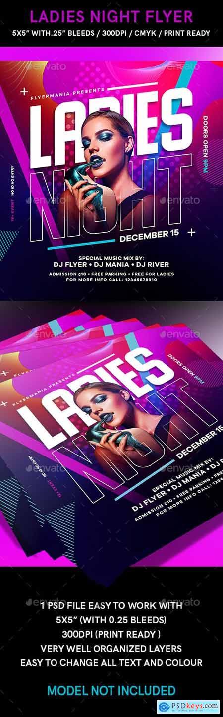 Ladies Night Flyer 24554733