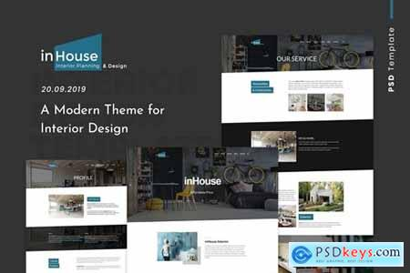 Inhouse - Modern Design Interior PSD Template