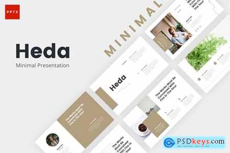 Heda Minimal Powerpoint, Keynote and Google Slides Templates
