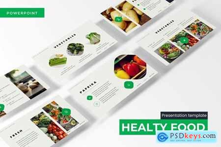 Healthy Food Powerpoint, Keynote and Google Slides Templates