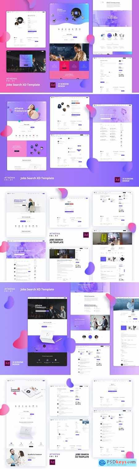 ATHENA - Jobs Search XD Template Bundle