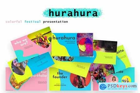hurahura - colorful Powerpoint, Keynote and Google Slides Templates