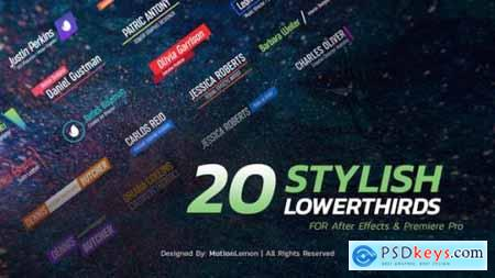 Videohive Stylish Lower Thirds Pack 23864262