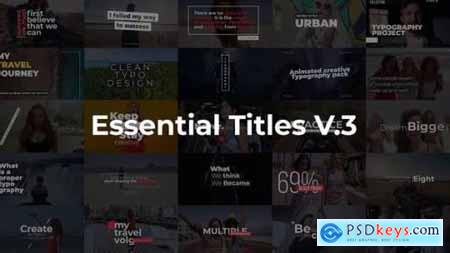 Videohive Essential Titles V.3 25253328