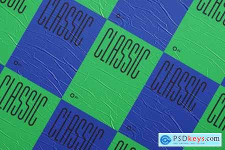60 Glued Poster Mockup Bundle 3553736