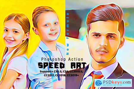 Speed Paint Photoshop Action 4286019