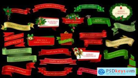 Videohive Christmas Lowerthirds and Banners 25261829