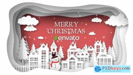 Videohive Christmas Paper Town Wishes 25254191