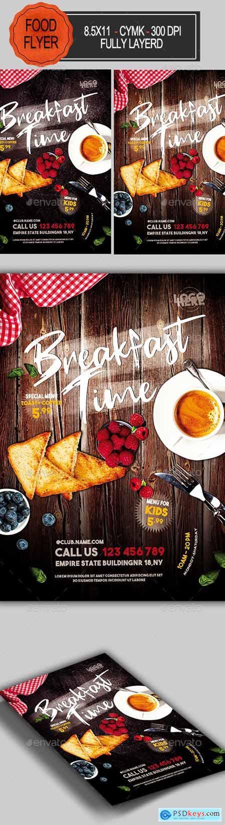 Breakfast Time Flyer 23360815