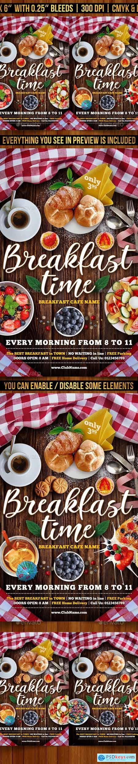 Breakfast Time Flyer Template 23441845