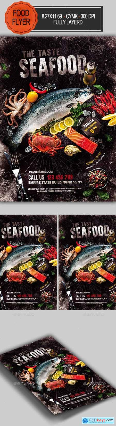Seafood Flyer Template 23387444