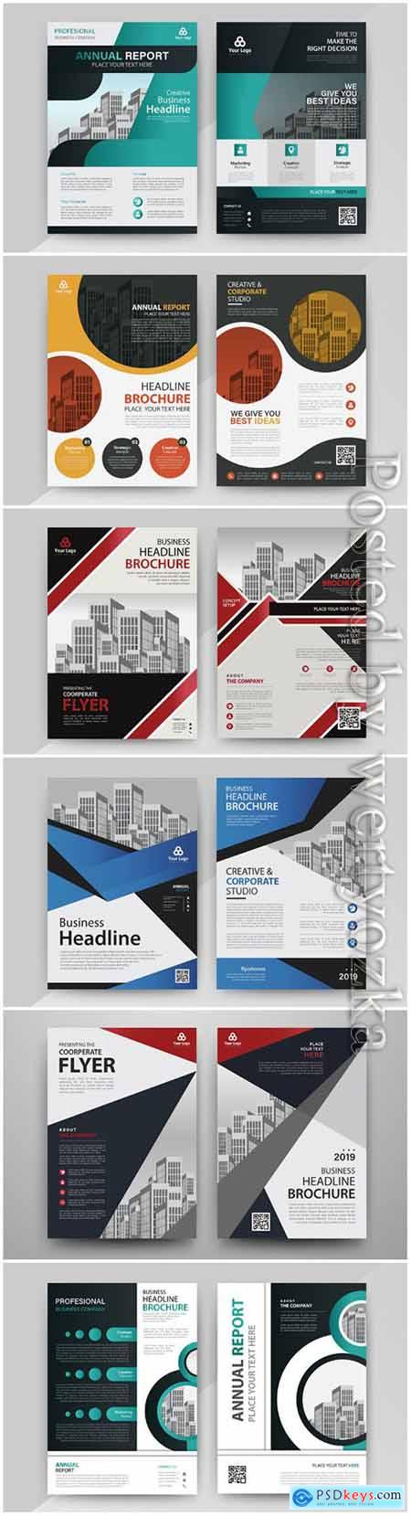 Business abstract vector brochure, annualReport, magazine # 5
