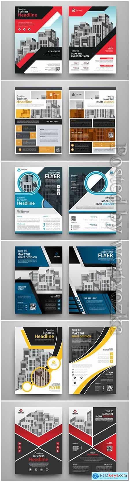 Business abstract vector brochure, annualReport, magazine # 3
