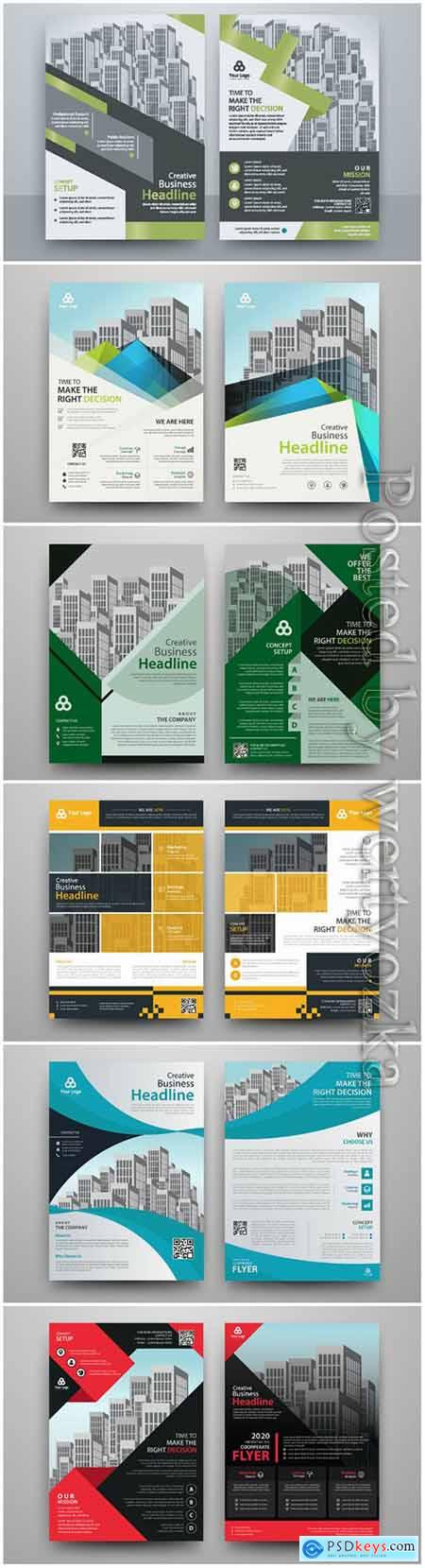 Business abstract vector brochure, annualReport, magazine # 2