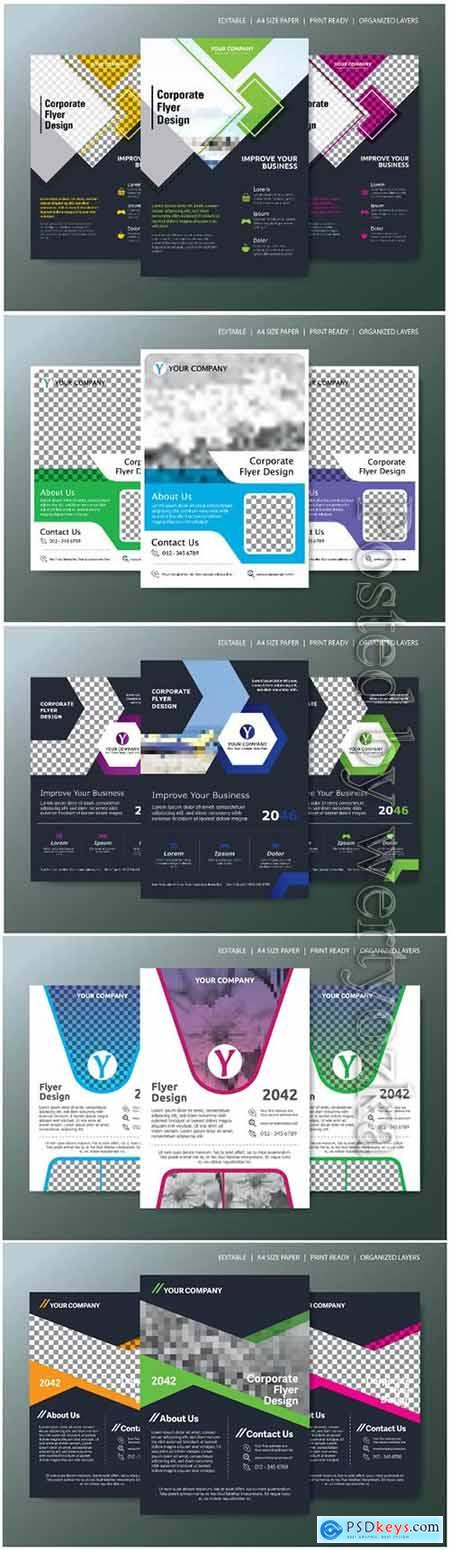 Business abstract vector brochure, annualReport, magazine349