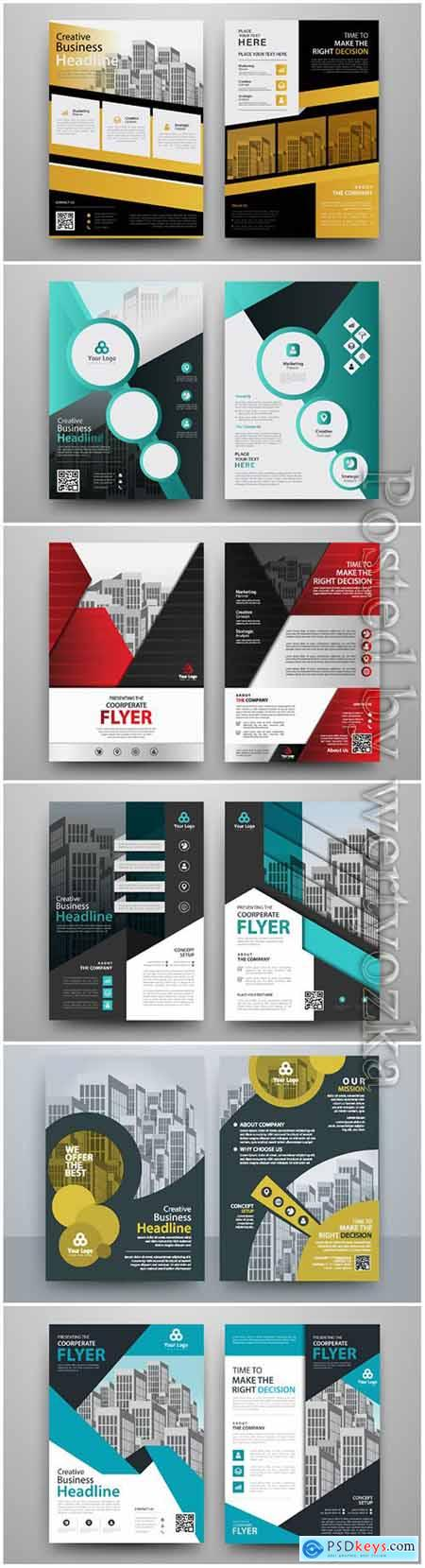 Business abstract vector brochure, annualReport, magazine # 4