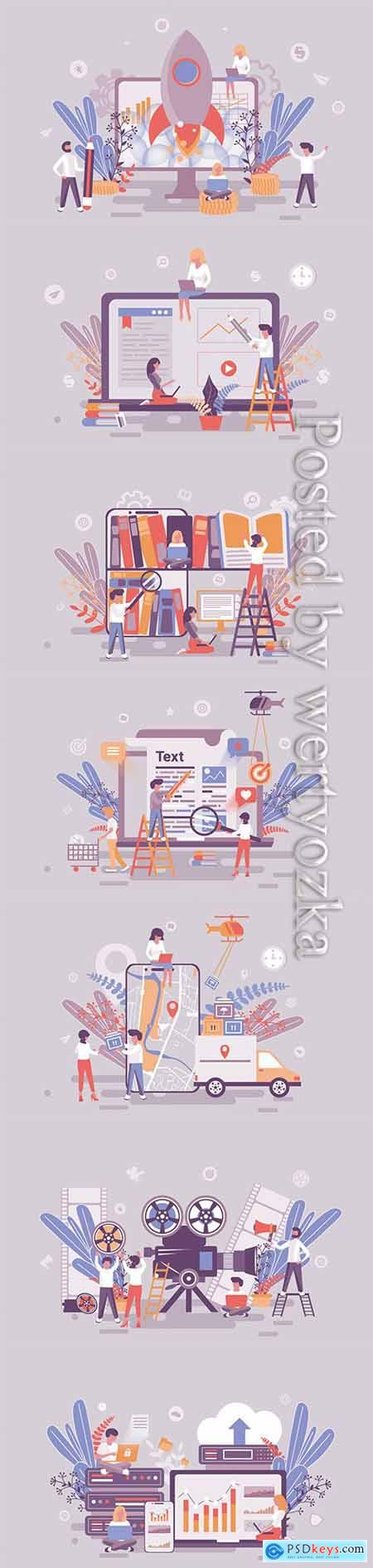 Flat isometric vector 3D concept illustration # 107