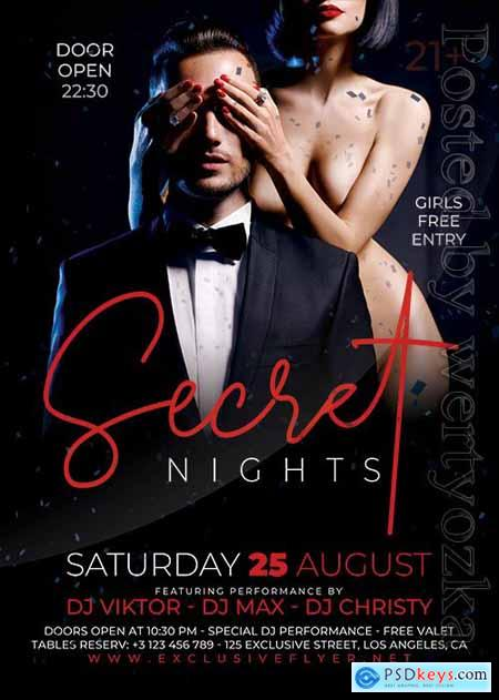 Secret nights - Premium flyer psd template