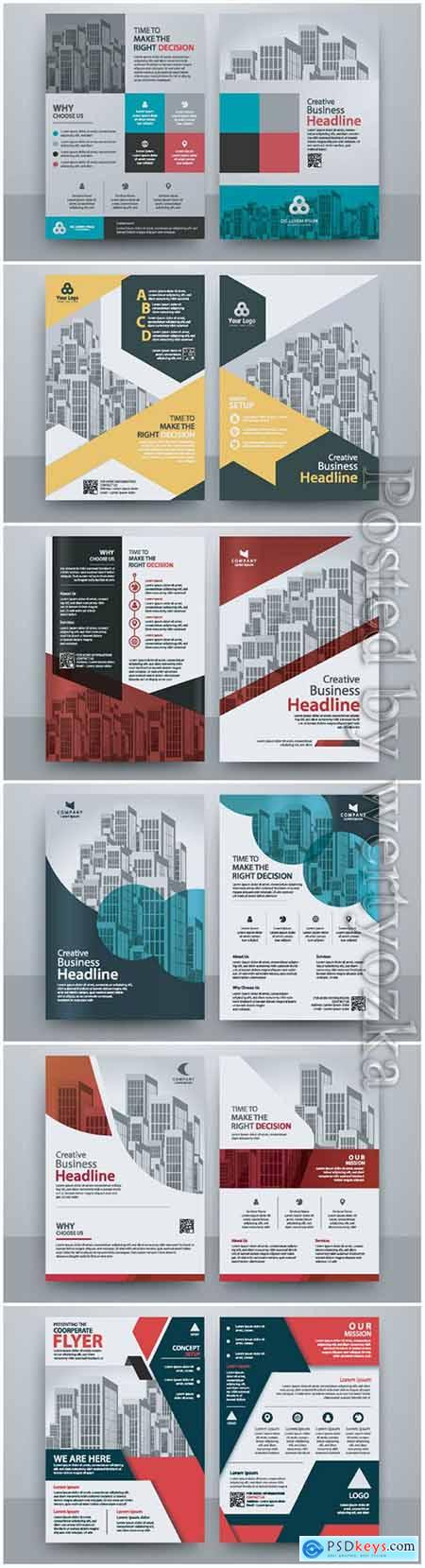 Business abstract vector brochure, annualReport, magazine