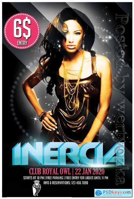 Inercia - Premium flyer psd template