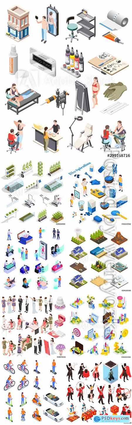 Flat isometric vector 3D concept illustration # 101