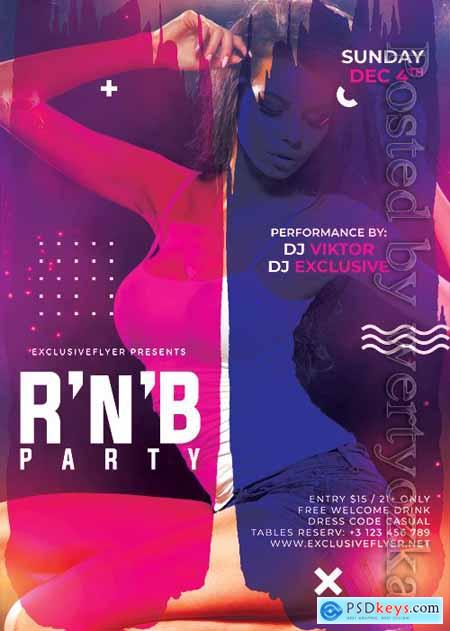 R n b bash - Premium flyer psd template