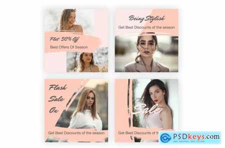 21 Social Media Banners Kit (Vol. 5) in Adobe XD
