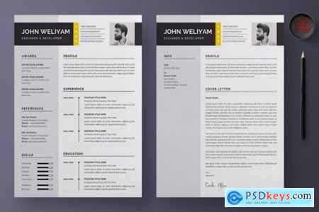Professional and Modern CV - Resume Template