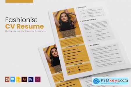 Fashionist - CV & Resume Template