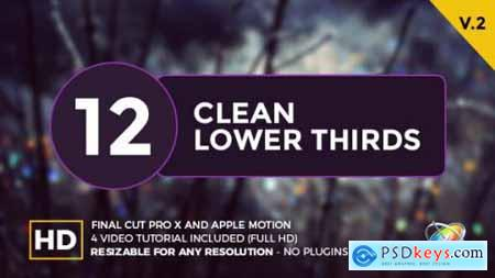Videohive Clean Lower Thirds For Final Cut Pro X 20148190