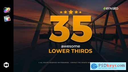 Videohive Awesome Lower Thirds for FCPX 23081399