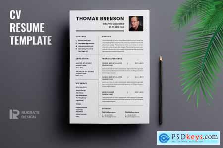 Minimalist CV Resume R23 Template