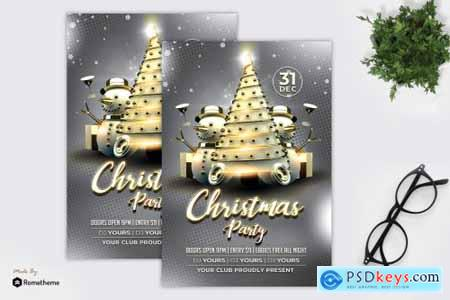Christmas Whitegold Party Flyer MR