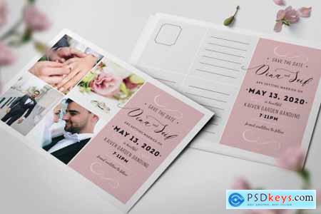 Simple Collage Wedding Invitation