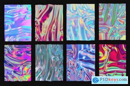 Holographic foil mock-up template 4385953