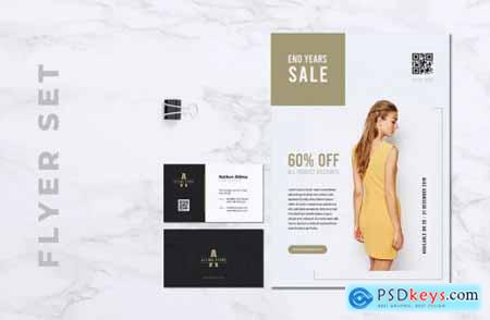 ALTIMA Fashion Store Flyer & Business Card