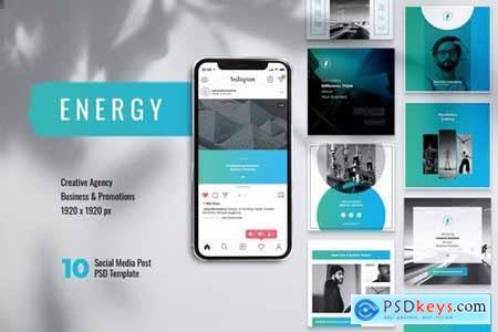 ENERGY Power Plant Instagram & Facebook Post