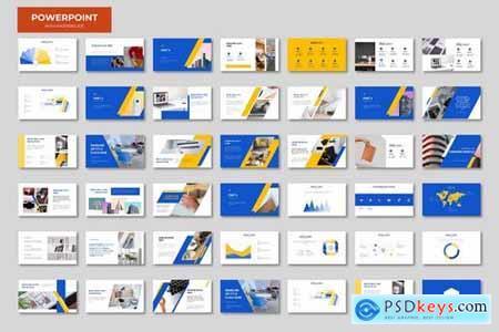 Blue Orange Powerpoint Google Slides and Keynote Templates