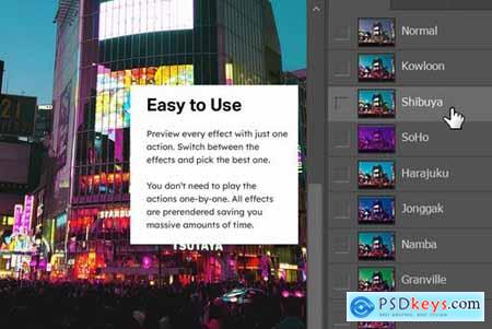 8 Cyberpunk Aesthetics Photoshop Actions and LUTs