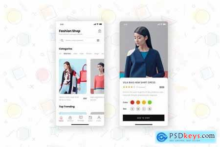 Fashion Store Mobile App UI Kit