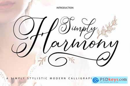 Simply Harmony Stylistic Modern Calligraphy Font