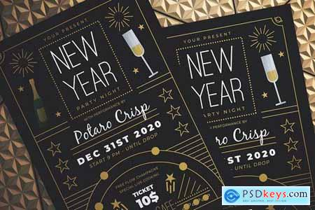 New Year Party Night Flyer